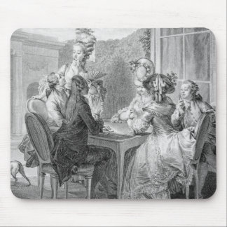 The Whist Party, 1783, engraved by Jean Dambrun (1 Mouse Mat