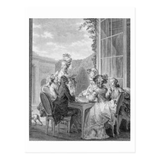 The Whist Party, 1783, engraved by Jean Dambrun (1 Postcard