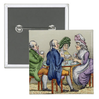 The Whist Party (colour litho) Pin