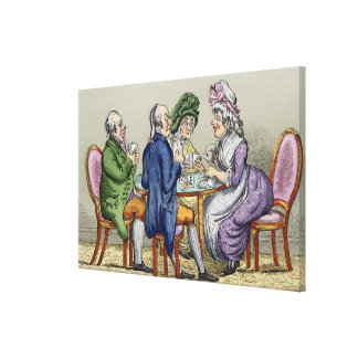 The Whist Party (colour litho) Gallery Wrap Canvas