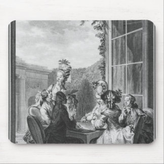 The whist party, engraved by Jean Dambrun  1783 Mouse Mat