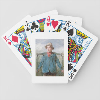 The Whistling Farm-Hand, 19th century (w/c and bod Bicycle Playing Cards