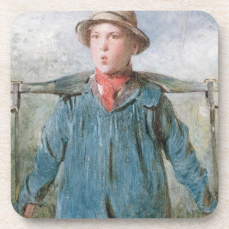 The Whistling Farm-Hand, 19th century (w/c and bod Coasters