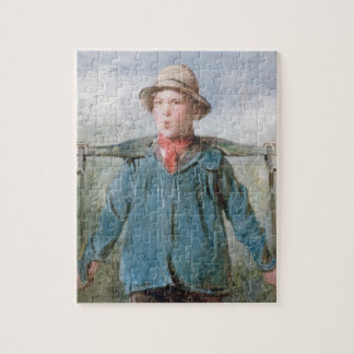 The Whistling Farm-Hand, 19th century (w/c and bod Jigsaw Puzzle