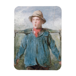 The Whistling Farm-Hand, 19th century (w/c and bod Rectangular Photo Magnet