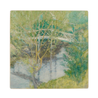 The White Bridge, c.1895 (oil on canvas) Maple Wood Coaster