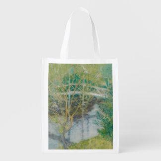 The White Bridge, c.1895 (oil on canvas) Reusable Grocery Bag