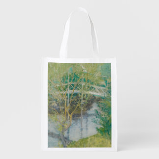 The White Bridge, c.1895 (oil on canvas) Reusable Grocery Bag