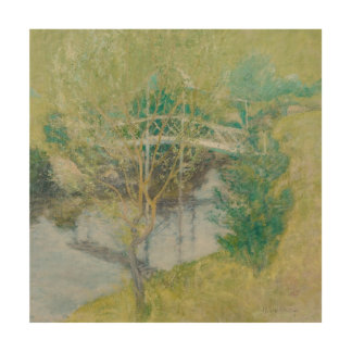 The White Bridge, c.1895 (oil on canvas) Wood Wall Decor