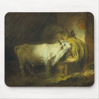 The White Bull in the Stable (oil on canvas) Mouse Pad