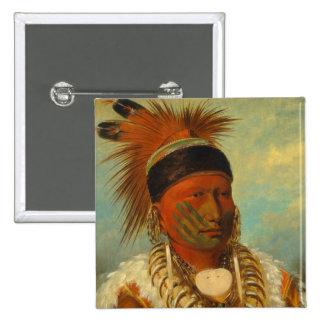 The White Cloud, Head Chief of the Iowas 15 Cm Square Badge