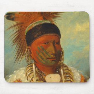 The White Cloud, Head Chief of the Iowas Mouse Pad