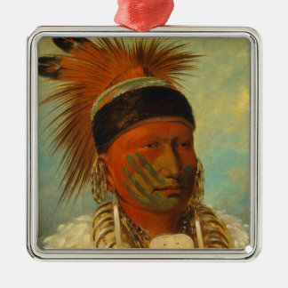 The White Cloud, Head Chief of the Iowas Silver-Colored Square Decoration