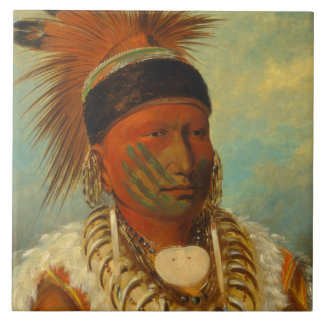 The White Cloud, Head Chief of the Iowas Tile