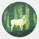 The White Hart Round Sticker