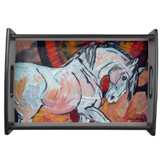 The White Horse Serving Tray