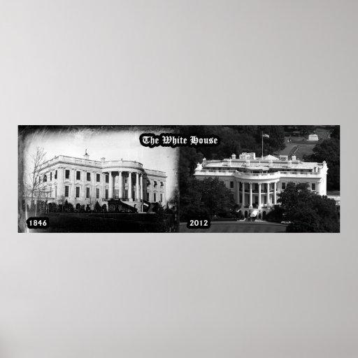The White House - 1846 & 2012 Print