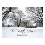 The White House on a snowy day, Washington DC