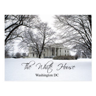 The White House on a snowy day, Washington DC Postcard