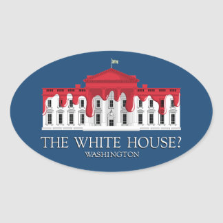 The White House? Oval Sticker