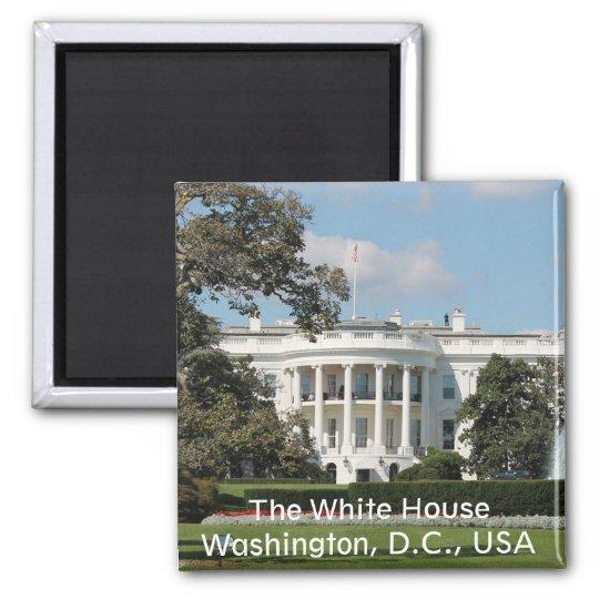 The White House, Washington DC Square Magnet