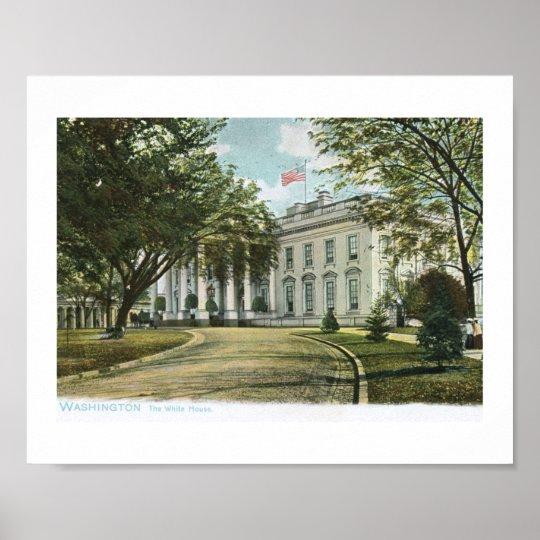 The White House, Washington DC Vintage Poster