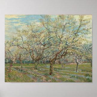 The White Orchard Arles, April 1888 Vincent van Go Poster