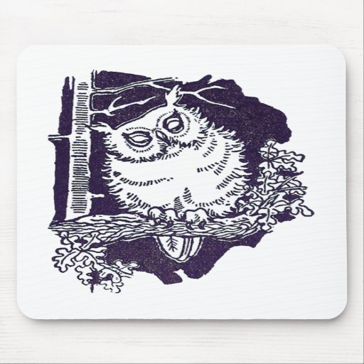 The White Owl Mouse Pad