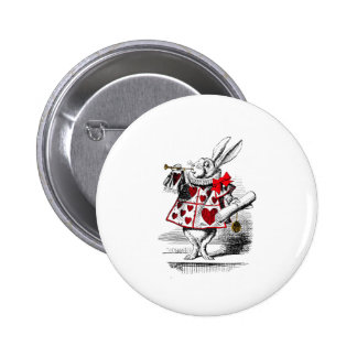 The White Rabbit 6 Cm Round Badge