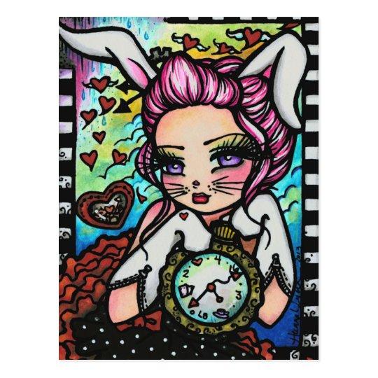The White Rabbit Alice Fairy Fantasy Art Girl