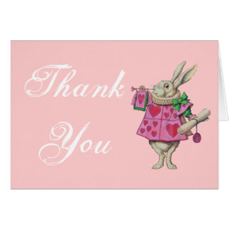 The White Rabbit - Alice in Wonderland - Thank You Card