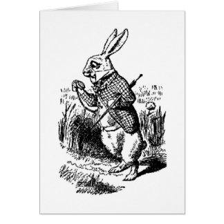 The White Rabbit and Pocket Watch Card