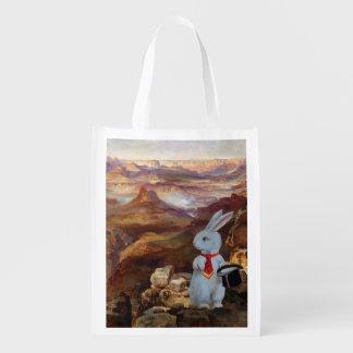 The White Rabbit at the Grand Canyon Reusable Bag