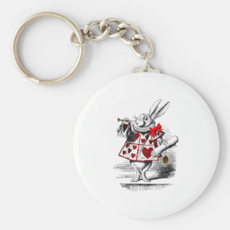 The White Rabbit Basic Round Button Key Ring