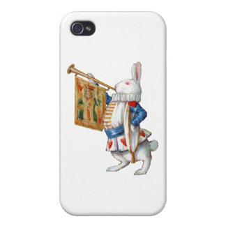 The White Rabbit Blows His Horn Cases For iPhone 4