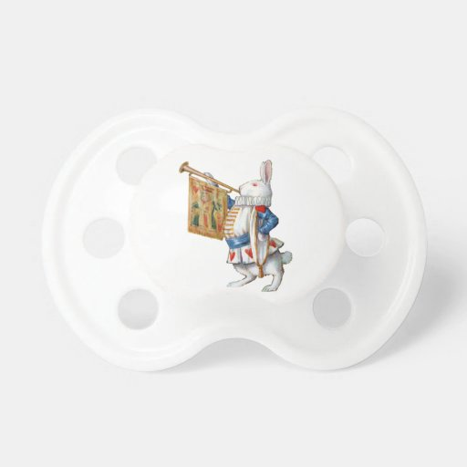 The White Rabbit Blows the Trumpet In Wonderland Baby Pacifier