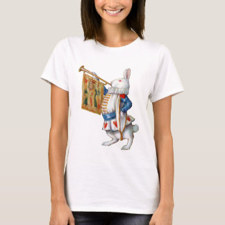 The White Rabbit Blows the Trumpet In Wonderland T-Shirt