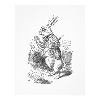 The White Rabbit Checks His Watch Flyer Design