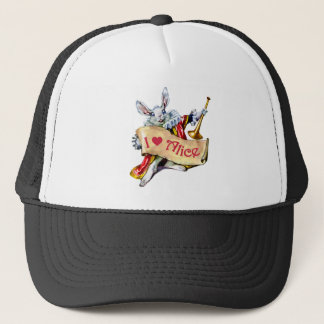 THE WHITE RABBIT DECLARES HIS LOVE FOR ALICE TRUCKER HAT