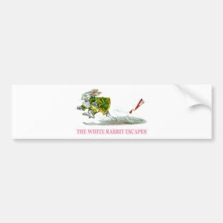 The White Rabbit Escapes Bumper Stickers