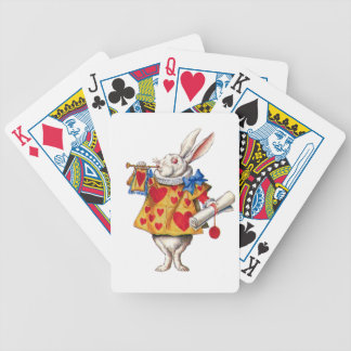 The White Rabbit From Alice in Wonderland Bicycle Playing Cards