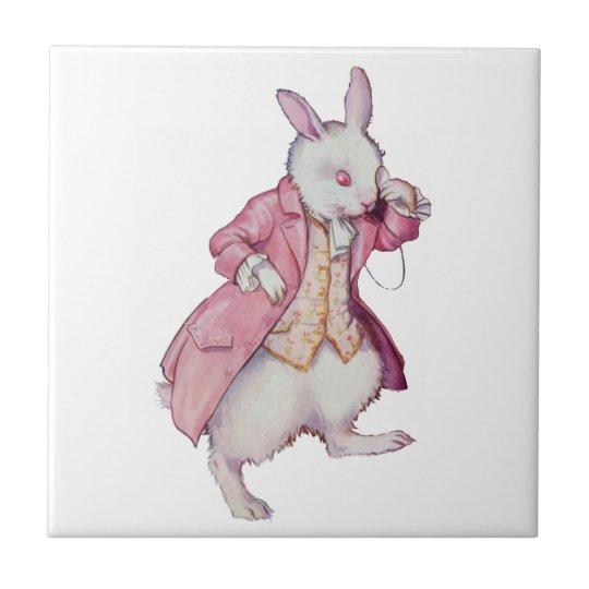 The White Rabbit from Alice in Wonderland Tile