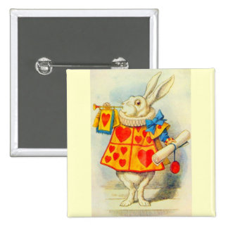 The White Rabbit Full Color 15 Cm Square Badge