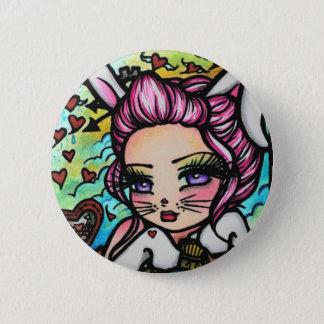 The White Rabbit Hearts Alice Fairy Fantasy 6 Cm Round Badge