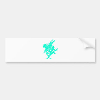 The White Rabbit in Blue Bumper Sticker