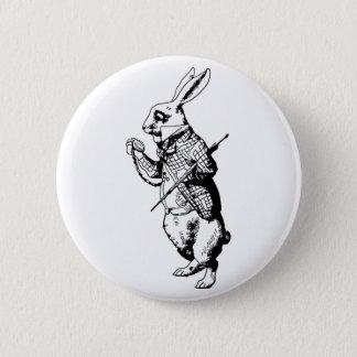 The White Rabbit - Inked 6 Cm Round Badge