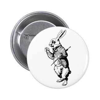 The White Rabbit - Inked 6 Cm Round Badge