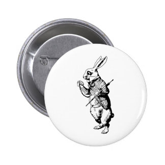 The White Rabbit Inked 6 Cm Round Badge