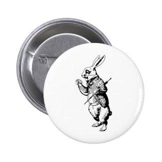 The White Rabbit Inked 6 Cm Round Badge