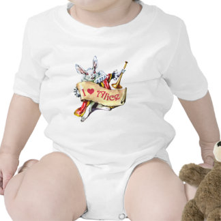 The White Rabbit Proclaims His Love For Alice Romper